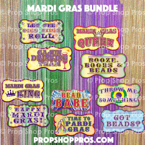 Prop Shop Pros Mardi Gras Photo Booth Props