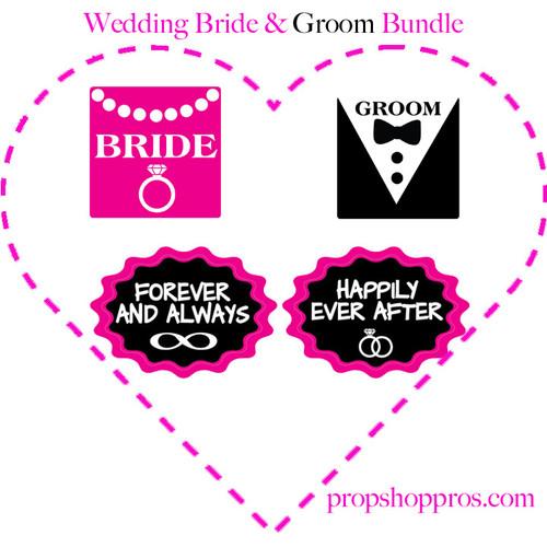 Wedding Props   Bride & Groom Props   B-STOCK   Prop Signs
