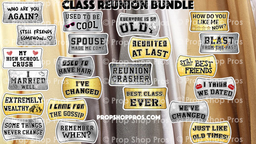 Prop Shop Pros Class Reunion Photo Booth Props