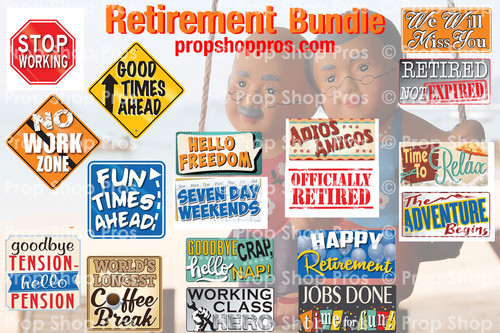 Prop Shop Pros Retirement Photo Booth Props
