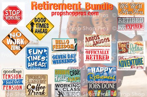 Prop Shop Pros Retirement Photo Booth Props