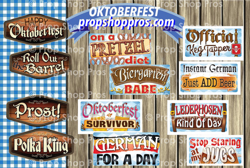Prop Shop Pros Oktoberfest Photo Booth Props