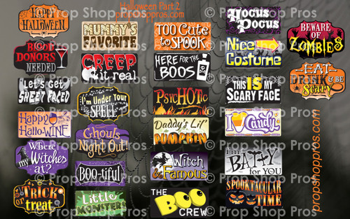 Prop Shop Pros Halloween Photo Booth Props 2