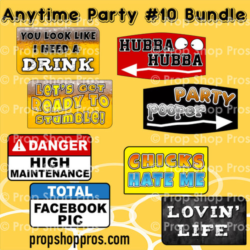 Prop Shop Pros Anytime Party Photo Booth Props 10