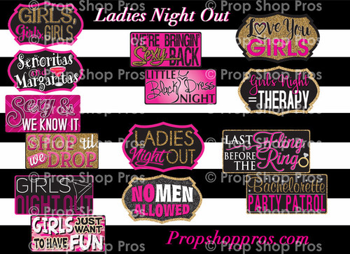 Prop Shop Pros Ladies Night Out Photo Booth Props