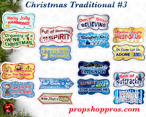 Christmas Signs | Traditional Part #3 | B-STOCK | Photo Booth Props | Prop Signs
