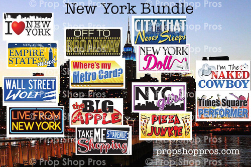 New York City Signs | B-STOCK | Photo Booth Props | Prop Signs