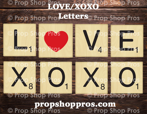 LOVE / XOXO Letters Bundle | B-STOCK | Photo Booth Props | Love Props