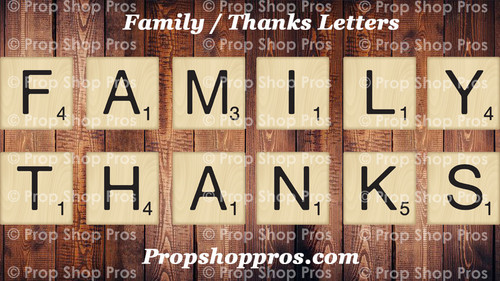 FAMILY / THANKS Letters Bundle | B-STOCK | Photo Booth Props |  Photographer Props