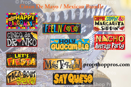 Cinco De Mayo | Mexican Bundle | B-STOCK | Photo Booth Props