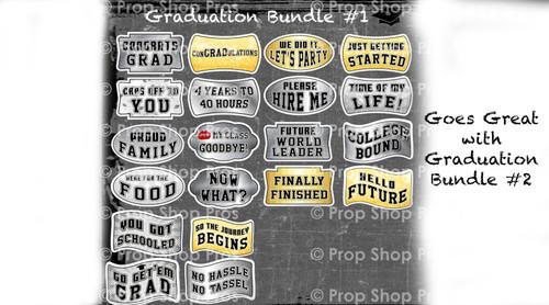 Prop Shop Pros Graduation Photo Booth Props Bundle 1