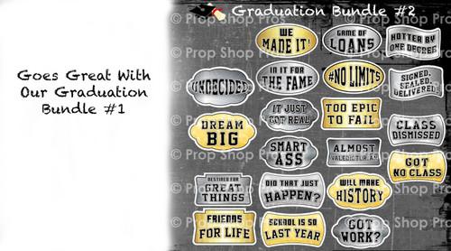 Prop Shop Pros Graduation Photo Booth Props Bundle 2