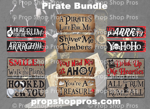Prop Shop Pros Pirate Photo Booth Props