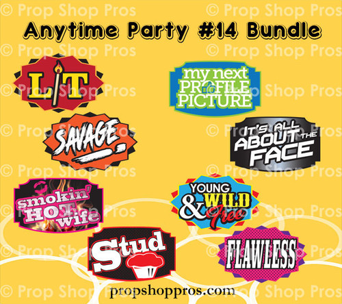 Prop Shop Pros Anytime Party Photo Booth Props 14