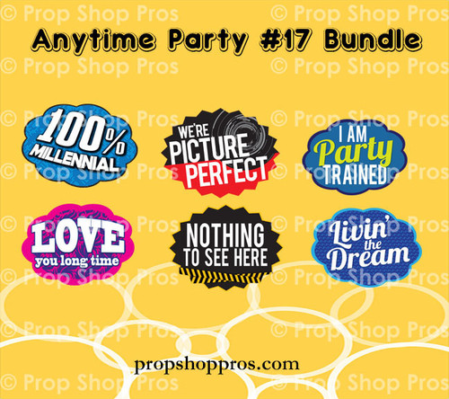 Prop Shop Pros Anytime Party 17 Photo Booth Props
