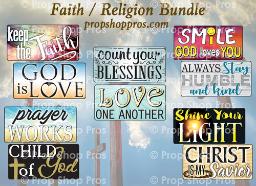 Faith | Religious Signs | B-STOCK | Photo Booth Props | Prop Signs