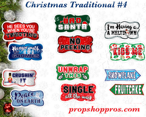 Christmas Signs | Traditional Part #4 | B-STOCK | Photo Booth Props