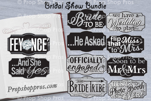 Bridal Show Signs | B-STOCK | Wedding Fair | Engagement | Photo Booth Props | Prop Signs