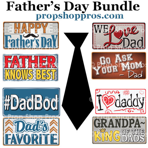 Fathers Day Signs | B-STOCK | Photo Booth Props | Prop Signs