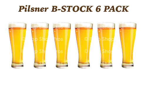Prop Shop Pros Photo Booth Props Pilsner Glasses In B - Stock