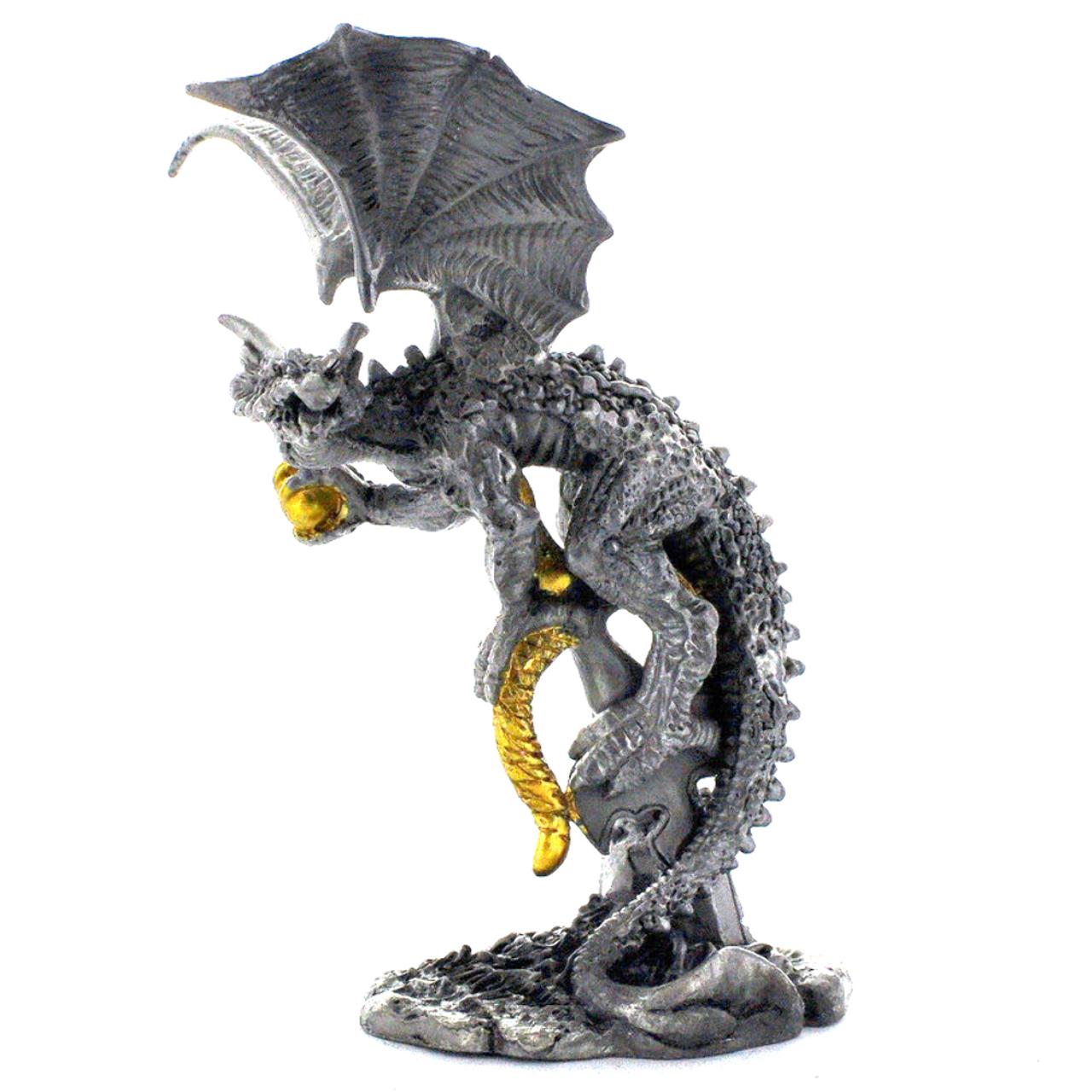 Pewter Dragon Egg Figurine