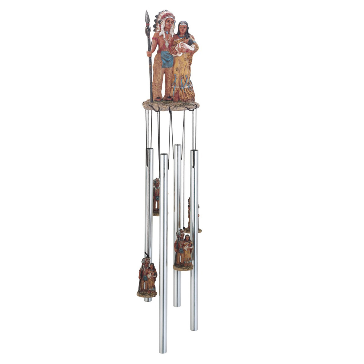 Native American Family Round Top Chime, 23