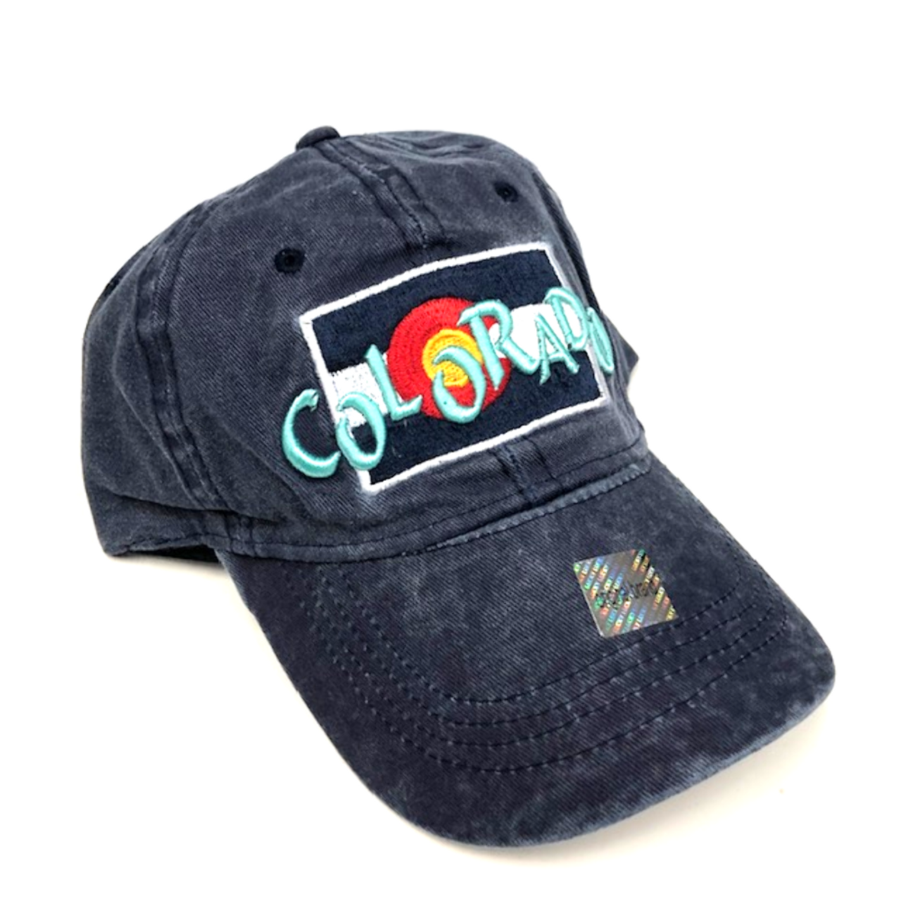 6ef1a2de7 Colorado Flag w/ Funky Colorado Adjustable Flat Brim Baseball Hat (BLUE)