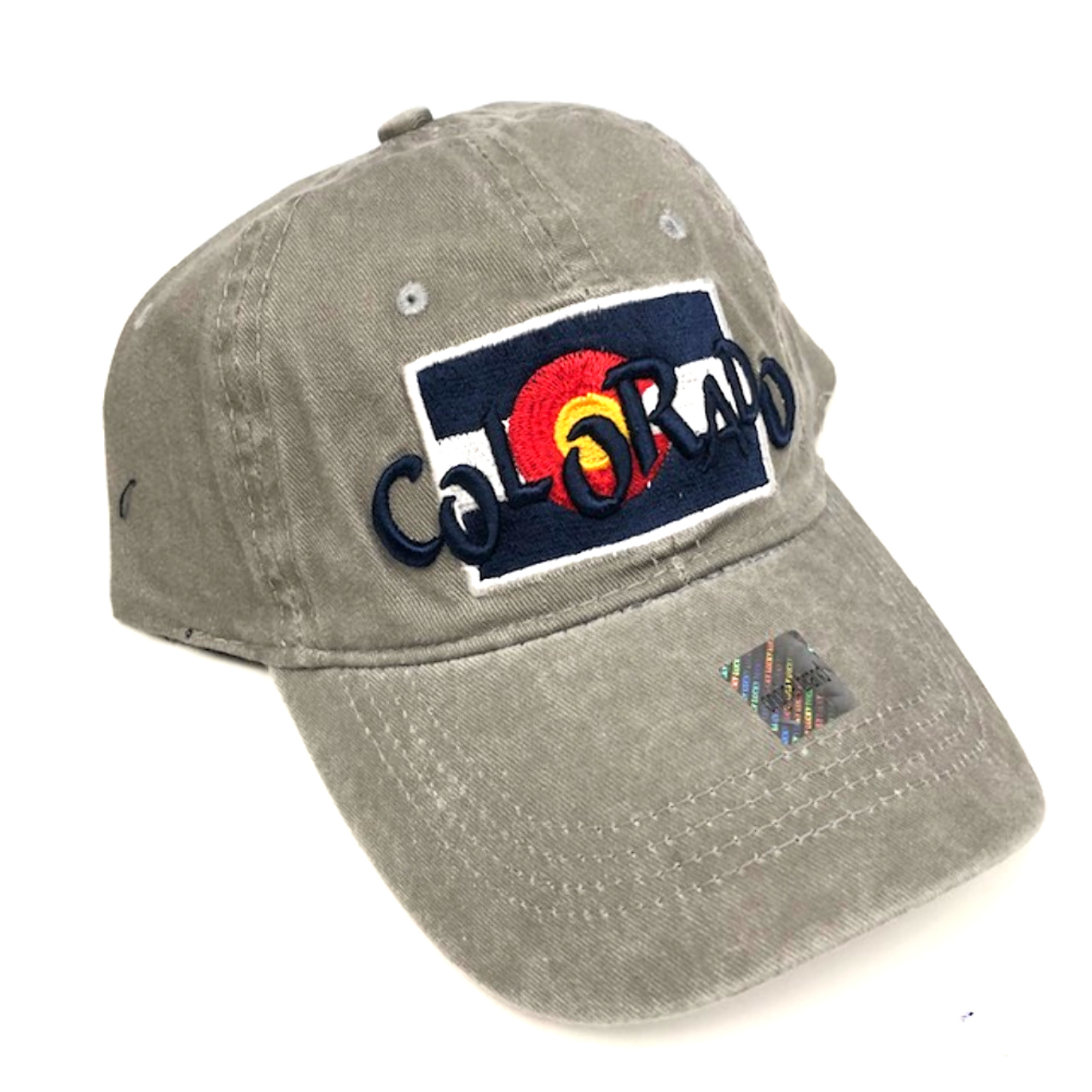 37184f1a7 Colorado Flag w/ Funky Colorado Adjustable Flat Brim Baseball Hat (GREY)