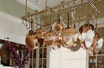 Thinking About a Pot Rack for Your Copper Cookware ...