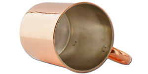 Tin Lined Copper Mugs