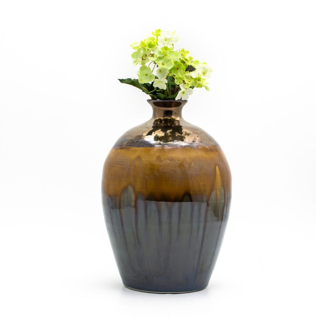 Patina Sienna Oval Bottle Vase