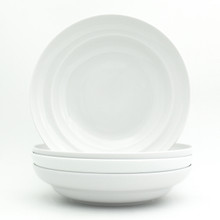 "White Essential 4 Piece 9"" Pasta Bowl Set"