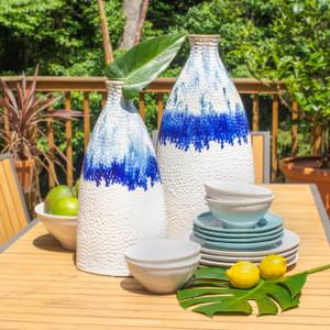 Fusion Large Ombre Drip Flat Shoulder Vase