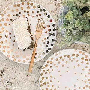 Echo 4 Piece Salad Accent Plate Set