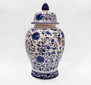 Blue Garden Floral Ginger Jar