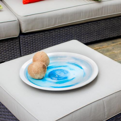 Grotto Aqua Decorative Platter