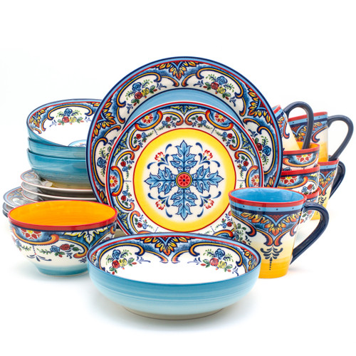 Zanzibar 20 Piece Stoneware Dinnerware Set, Service for 4