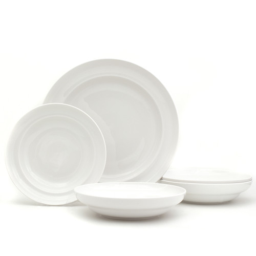 White Essential 4 Piece Pasta Bowls and Serving Bowl