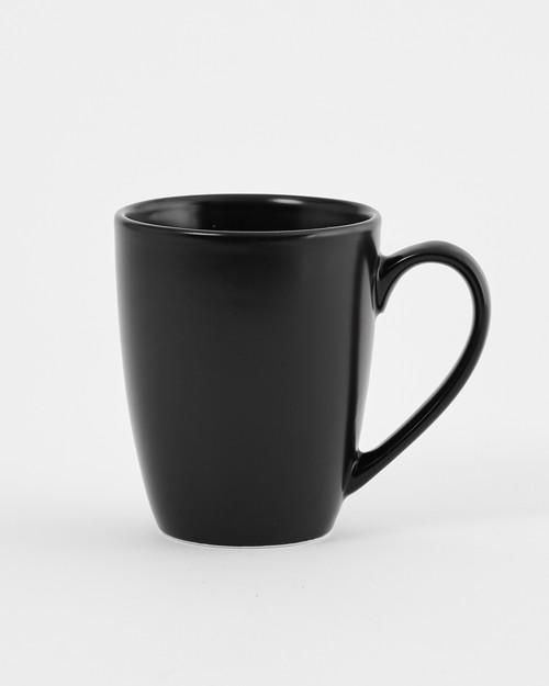 Euro Essential 4 Piece Mug Set, Semi-Matte Black