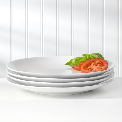 White Essential 4 Piece Dinner Plate Set
