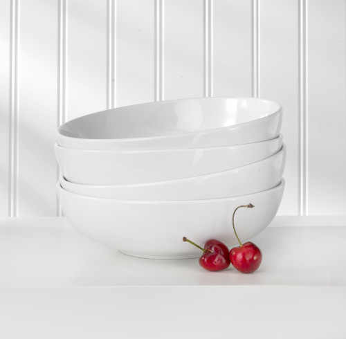 White Essential 4 Piece Soup Bowl Set