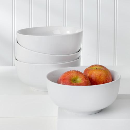 White Essential 4 Piece Cereal Bowl Set