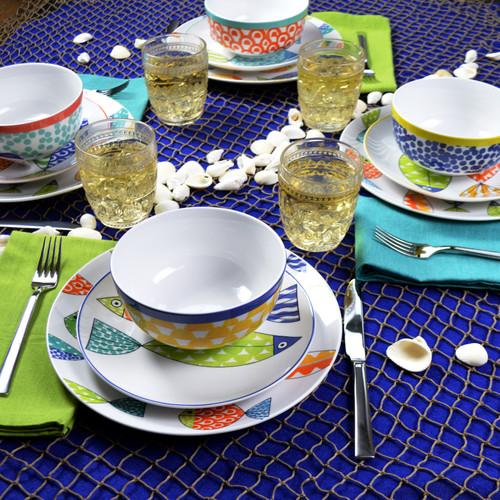 Fresh Catch 12 Piece Dinnerware Set