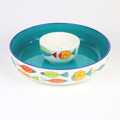 """Fresh Catch Collection 15 """" Chip & Dip Serving Set"""