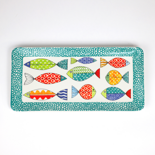 """Fresh Catch Collection 15"""" Rectangular Serving Tray"""