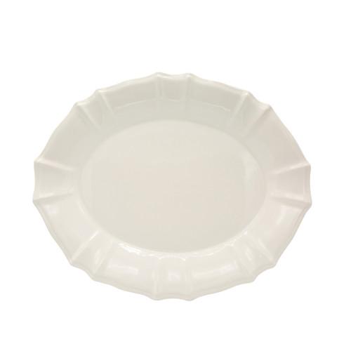 Chloe Oval Platter in White