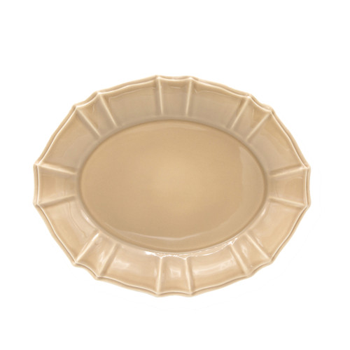 Chloe Oval Platter in Taupe
