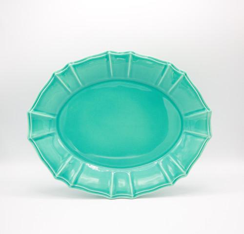Chloe Oval Platter in Turquoise