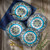 Zanzibar Stoneware Dinner Plates, Set of 4