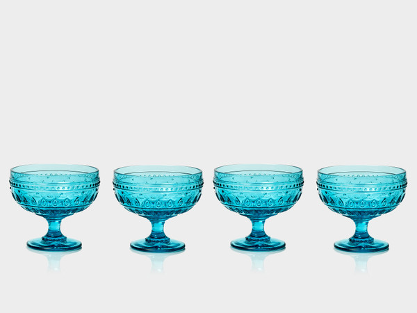 Fez 13 oz. Footed Compote Bowls, Set of 4